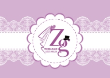 婚礼背景 紫色 logo 蕾丝图片