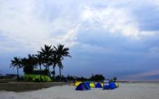 北海银滩露营图片