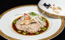 松茸米鱼膏蒸肉饼图片