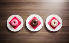 甜甜圈摄影大图图片