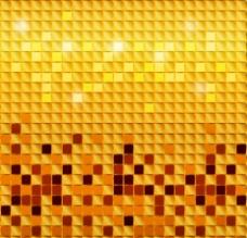 金色马赛克 背景图片