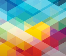 炫彩几何背景图片