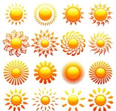 矢量太阳图片