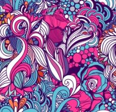矢量花卉底纹图片