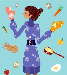 食物女性图片