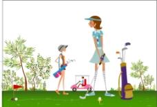 高尔夫女图片
