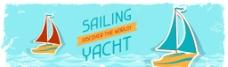 帆船卡通矢量素材图片