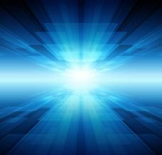 科技炫光蓝色背景图片