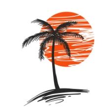棕榈树背景图片