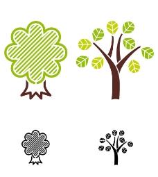 卡通树木背景图片