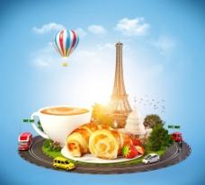 另类早餐创意广告图片