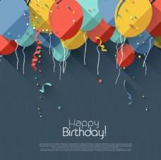 扁平化气球装饰背景设计图片