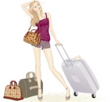 旅行女生图片