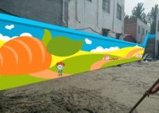 幼儿园围墙图片