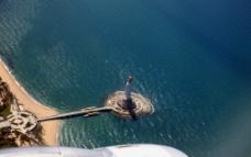 航拍海上观音图片