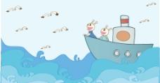 吃货星人创意卡通海洋风景图案图片