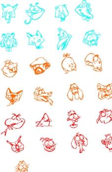 25款可爱动物矢量图图片