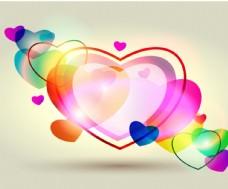 彩色爱心背景图片