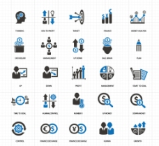 商务矢量图标图片