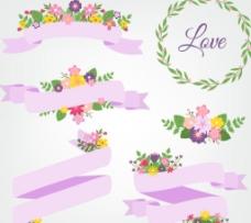 花卉装饰 丝带图片