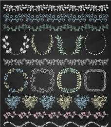 15款彩色简单花纹边条和框架图片