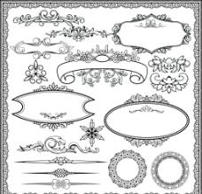 欧式标注花纹边框装饰角边图片