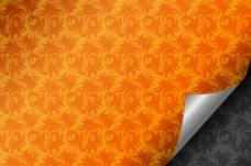 金黄花纹背景图片