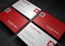 现代企业红色简约名片图片