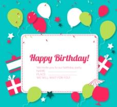 精致生日标签 贺卡图片