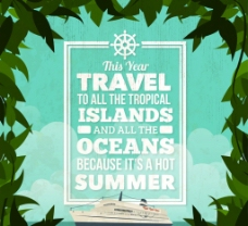 夏季游轮度假 海报图片