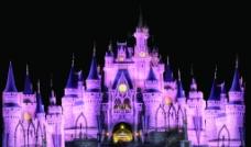 婚礼迪士尼城堡图片