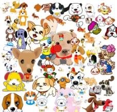 卡通狗狗素材图片