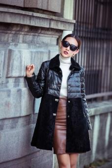 女装皮草模特 冬季皮草 皮草模图片