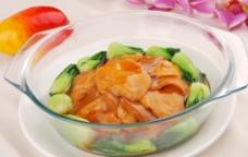 鲍汁鱼腐扣百灵菇图片