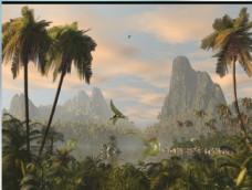 侏罗纪场景flash源文件