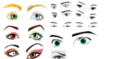 各种漫画眼睛外国人图片