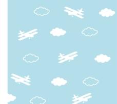 蓝天 飞机 白云图片