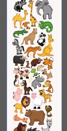 卡通动物全集图片