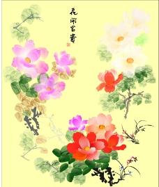 花开富贵矢量图 玄关图图片