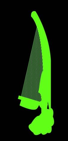 矢量乐器小箜篌图片