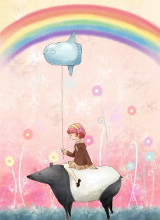 梦幻彩虹图片