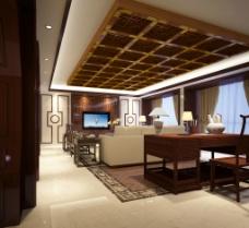 新中式别墅客厅图片