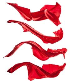 红绸带 丝带 开业 庆典 飘逸图片