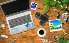 办公桌背景图片