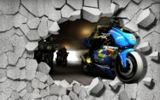 3D立体图摩托车图片