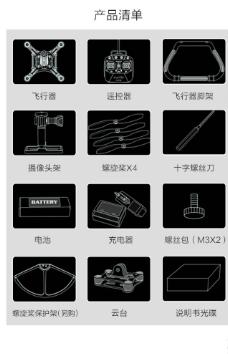 遥控飞机配件清单图片