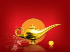 黄金酒壶图片