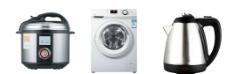 滚筒洗衣机 高压锅 电热水壶图片