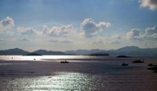 海岛晚霞图片