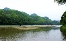 新宁崀山夫夷水沙滩风光图片